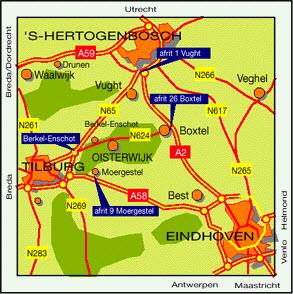 Geografische ligging, kaart oisterwijk